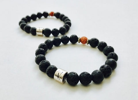 BLK Lava-Bead Bracelet - CHIEF Merch