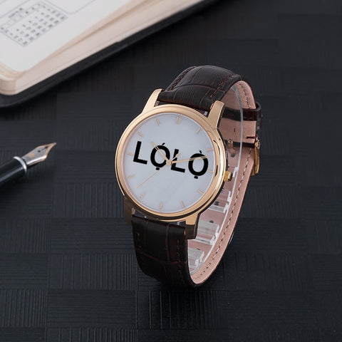 LOLO Quartz Watch - Brown Genuine Leather  - CHIEF Merch