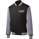 CHIEF University: Fleece Letterman Jacket - CHIEF Merch