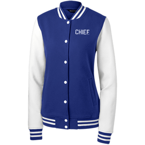 CHIEF University: Ladies' Fleece Letterman Jacket - CHIEF Merch