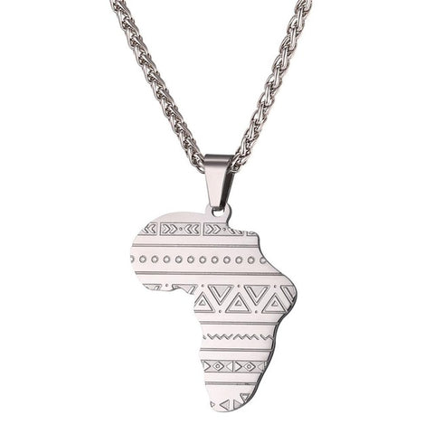 Gold Africa Pendant Necklace (Stainless Steel) - CHIEF Merch