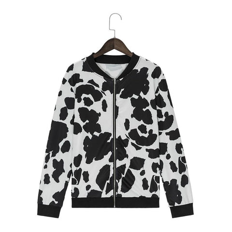 Ladies' Dalmatian Print Bomber - CHIEF Merch