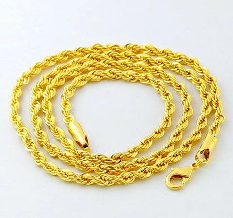 "Gold Rope Chain (30"") - CHIEF Merch"