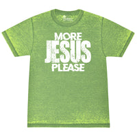 More Jesus Please SLIME Acid Wash Tee