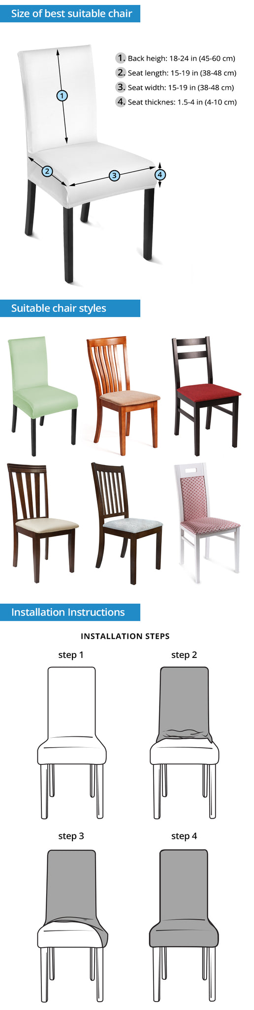 Chair Slip Cover Instructions