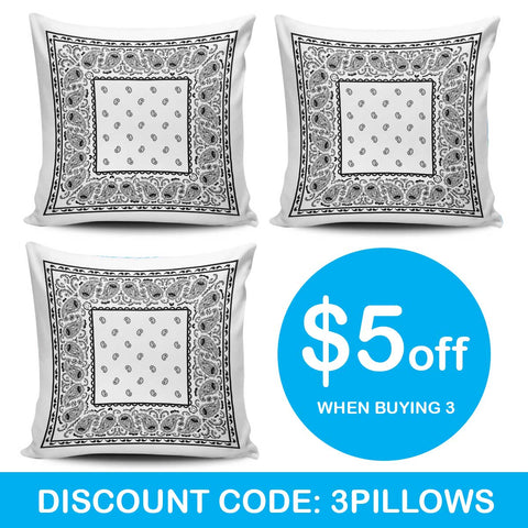three pillow sale