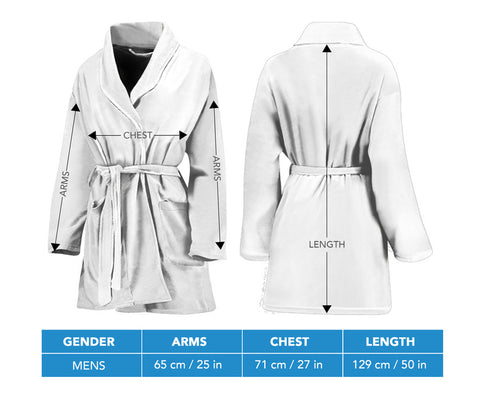 Men's bandana bathrobe size chart