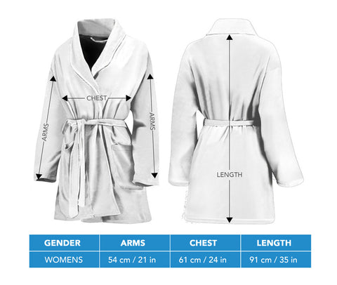 Women's bandana bathrobe size chart