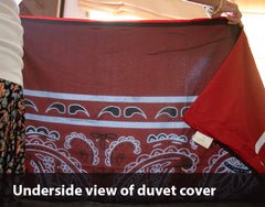 Underside or duvet covers