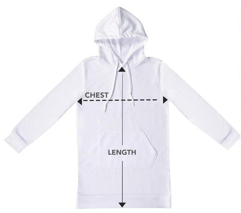 measuring for hoodies size