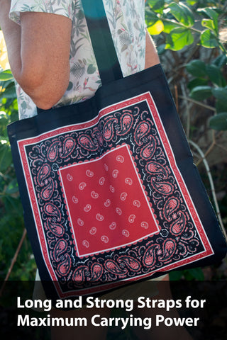 bandana tote bag demo