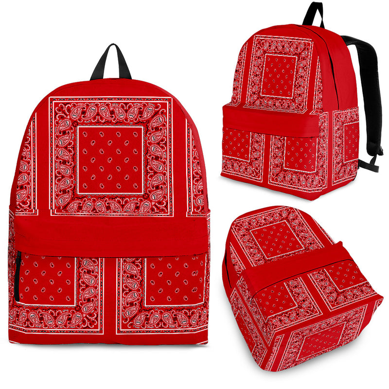 red bandana backpack