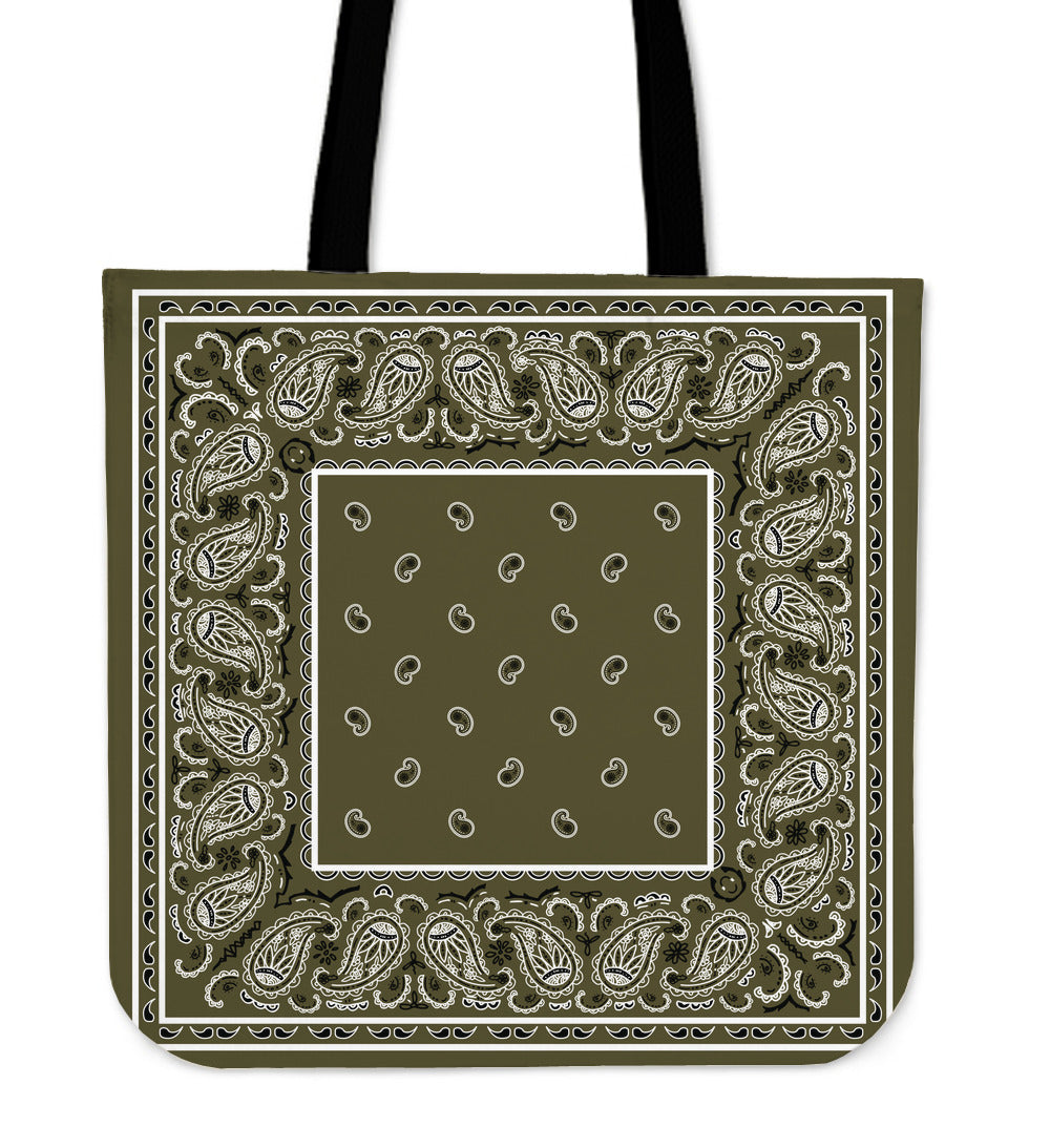 khaki green bandana bag