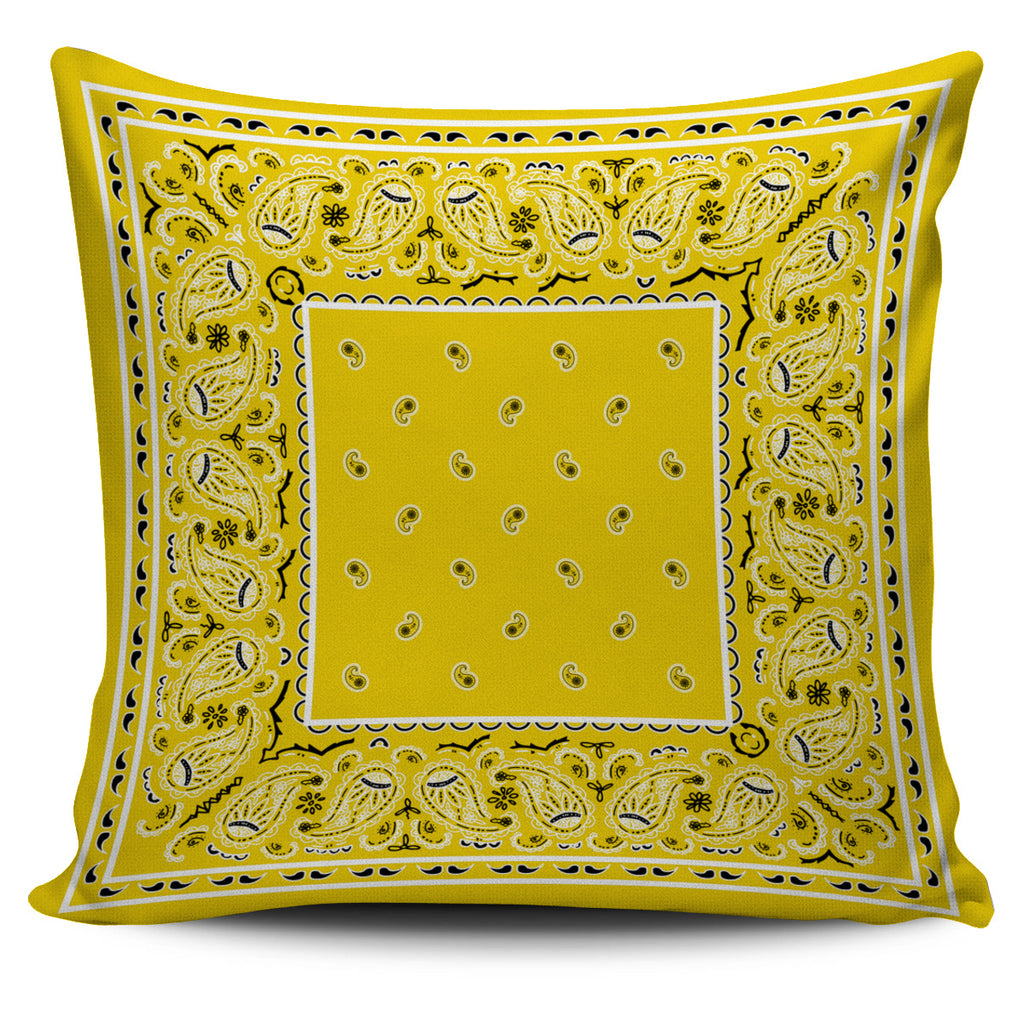 yellow bandana pillow