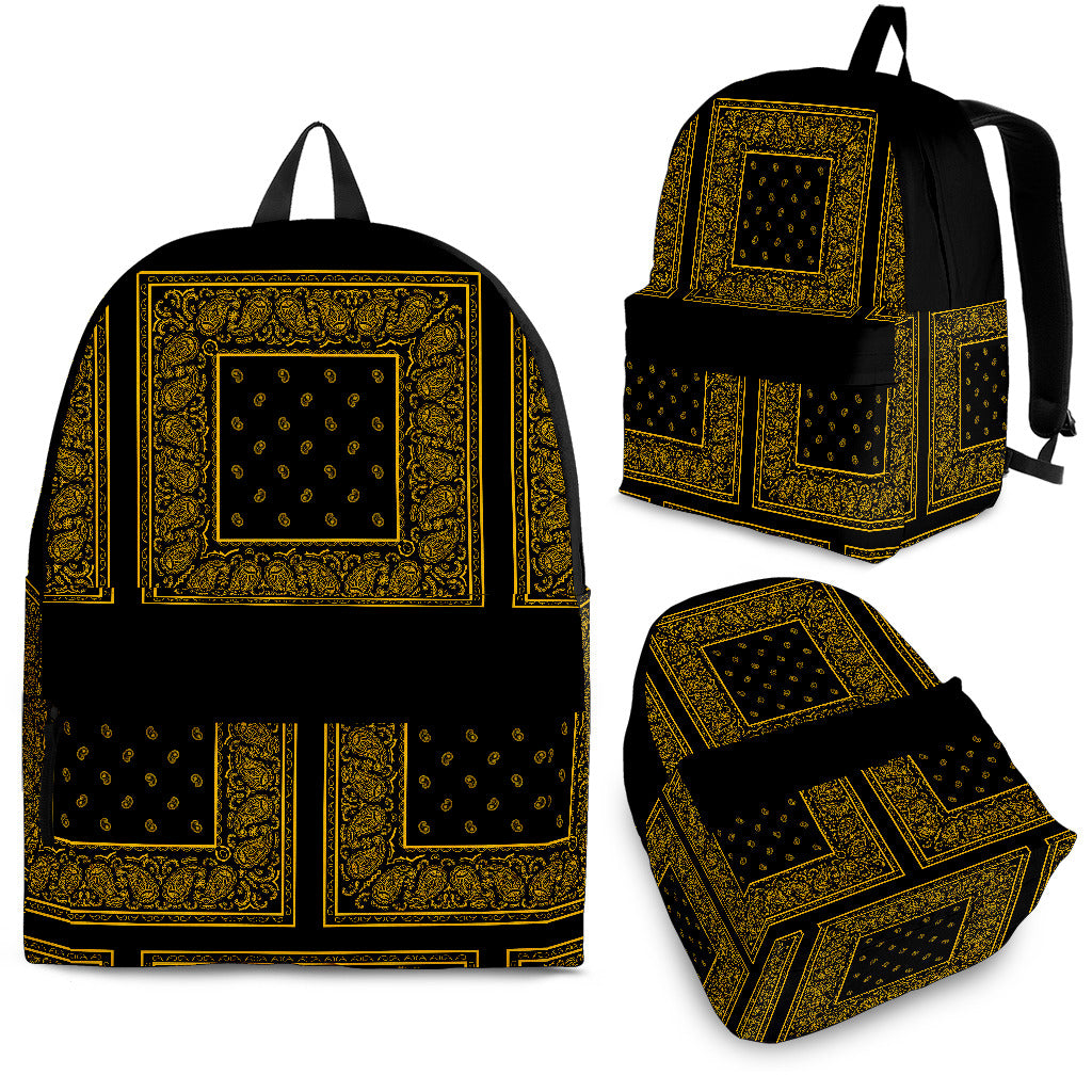 black and gold teem colors backpack
