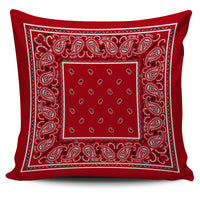red bandana accent pillow