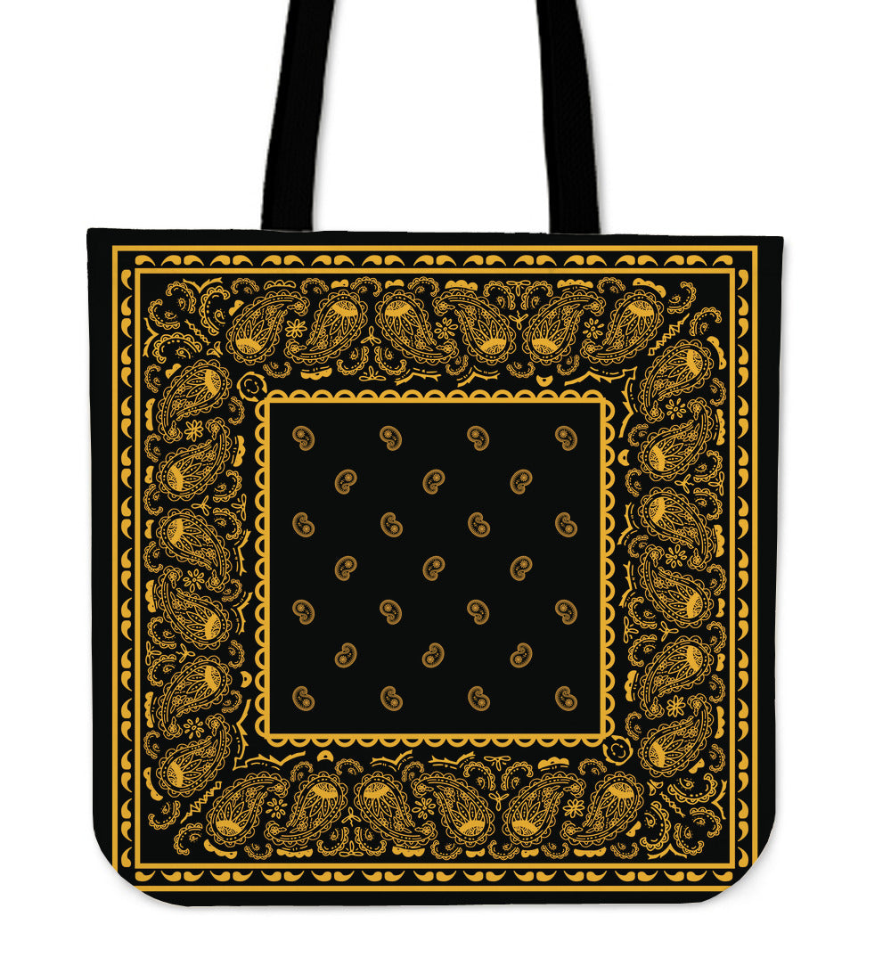 black and bold banana tote bag