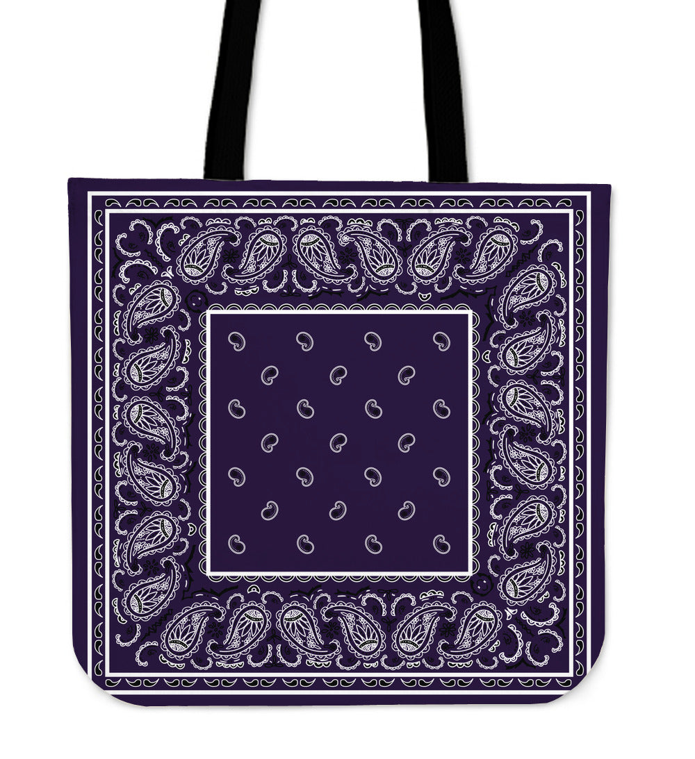 royal purple bandana tote