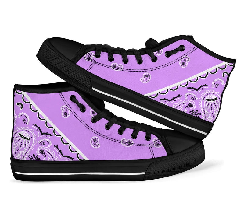 lilac purple bandana sneakers