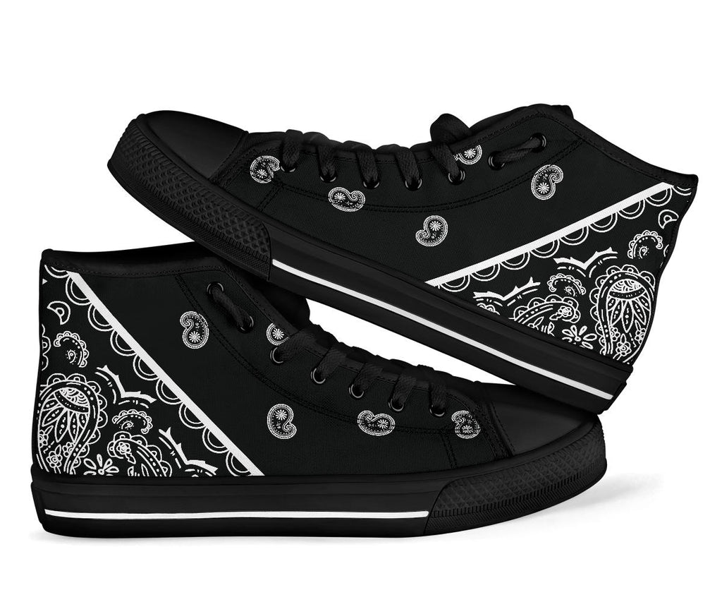 black bandana sneakers