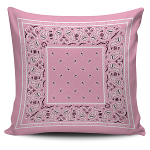 pink bandana pillow
