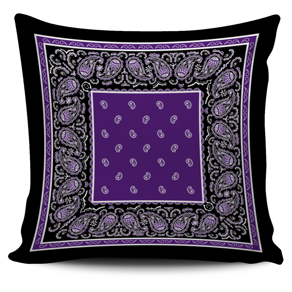 purple decocrative pillows