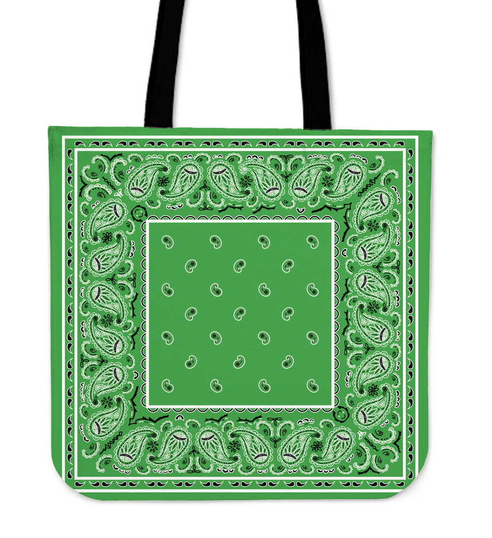 bright green bandana totes