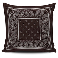 brown bandana throw pillow