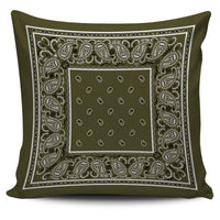 khaki green decorative pillow