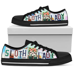 Sloth Lady Low Top Sneakers for Women