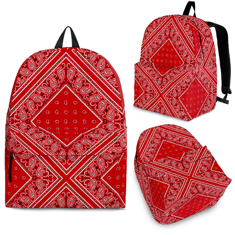 bandana backpack with red
