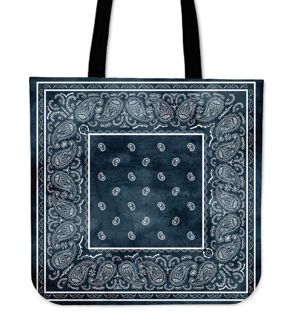 denim blue bandana totes