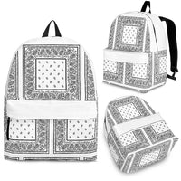White Bandana Backpacks