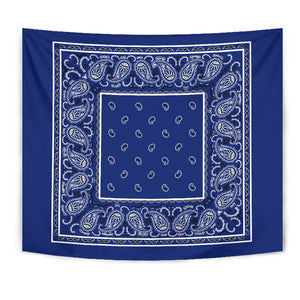 Royal Blue Bandana Tapestries