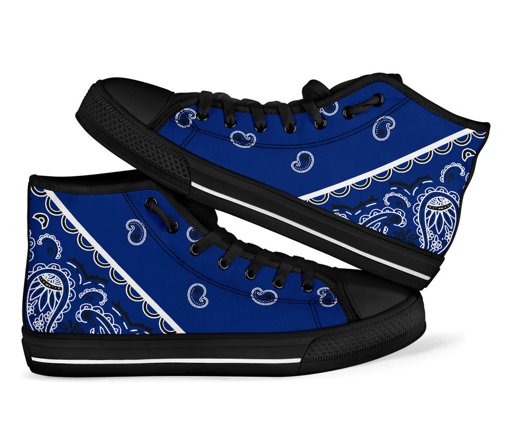 royal blue bandana sneakers