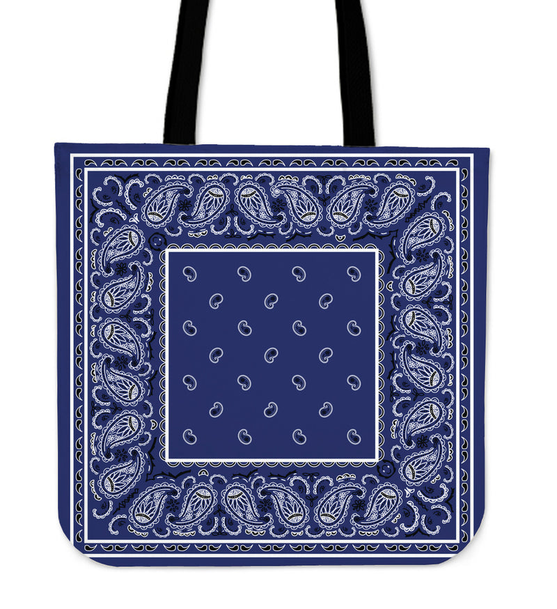 royal blue bandana tote bags