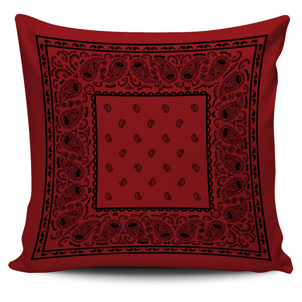 red bandana pillow
