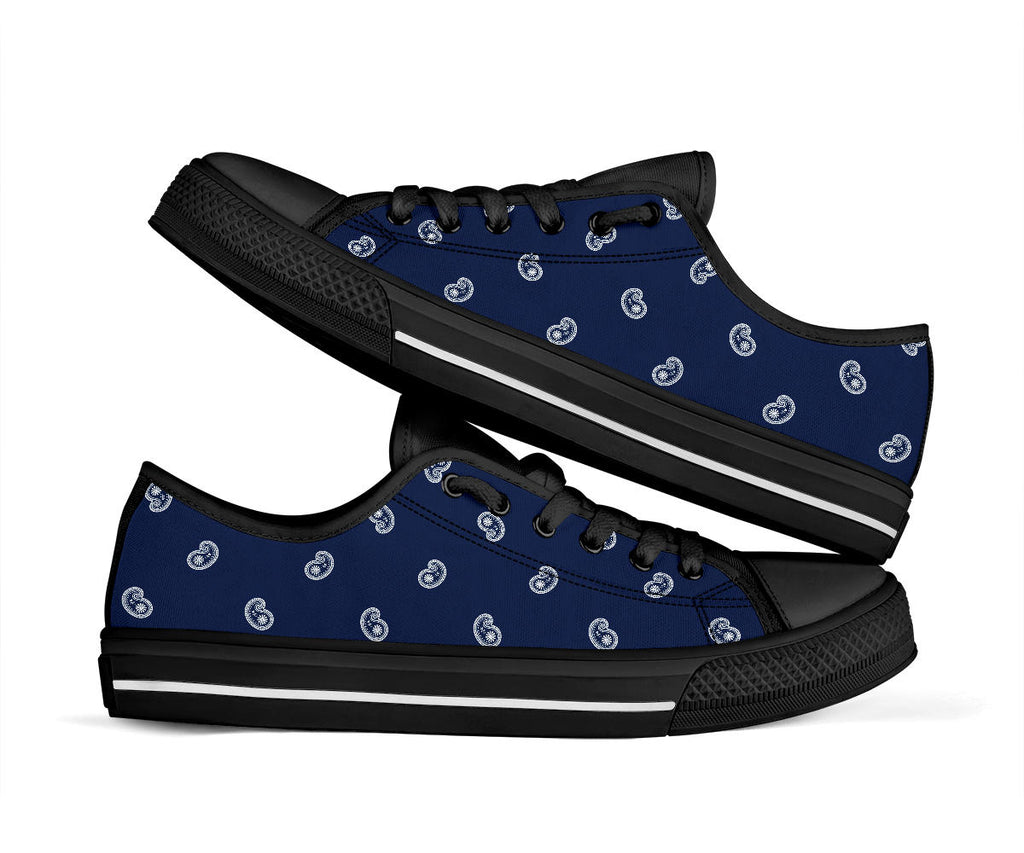 navy blue paisley shoes