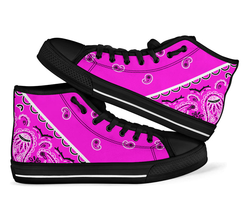 pink bandana sneakers for women and kids