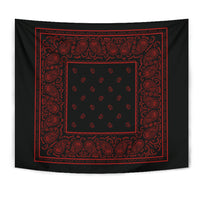 Black Bandana Tapestries