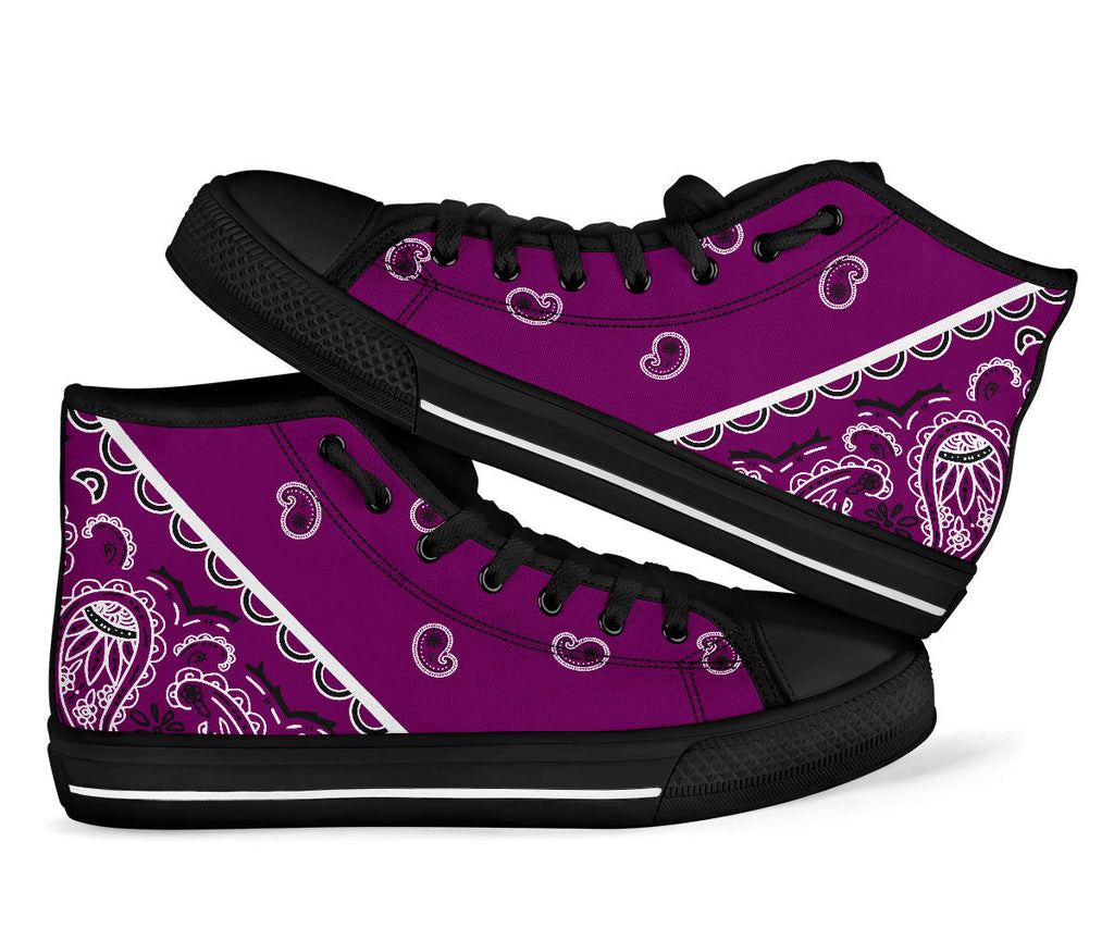 plum purple bandana sneakers