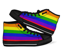 No Box Rainbow High Top Sneakers