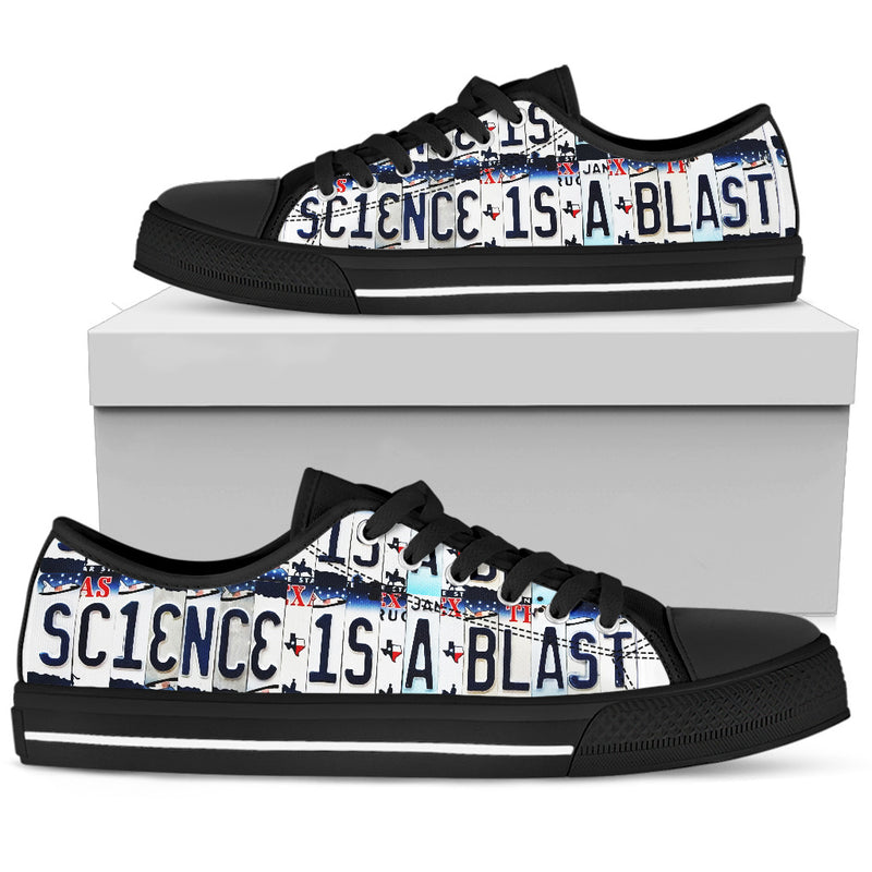 Science Is A Blast Typography Sneakers for Women