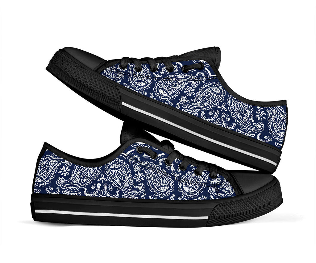 navy blue bandana sneakers