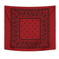 Red with Black Bandana Tapestry