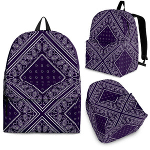 purple backpacks