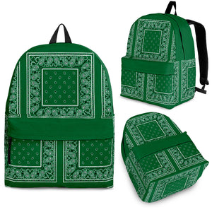 green bandana backpack