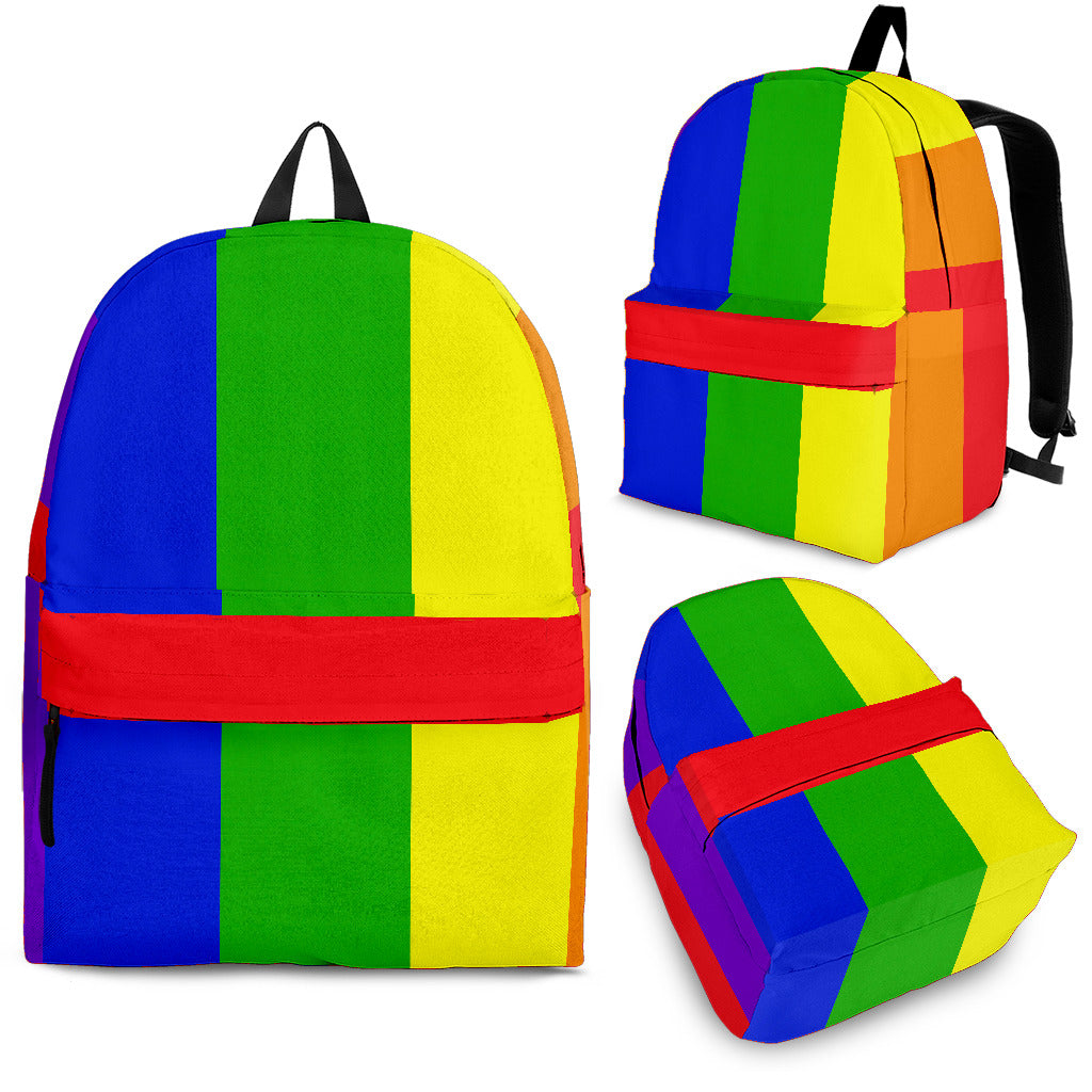 rainbow colored backpack