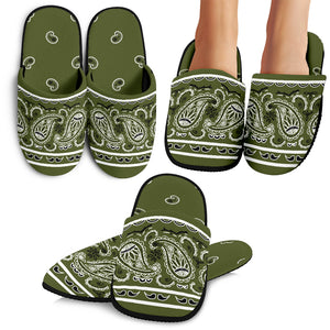 Army Green Bandana Slippers