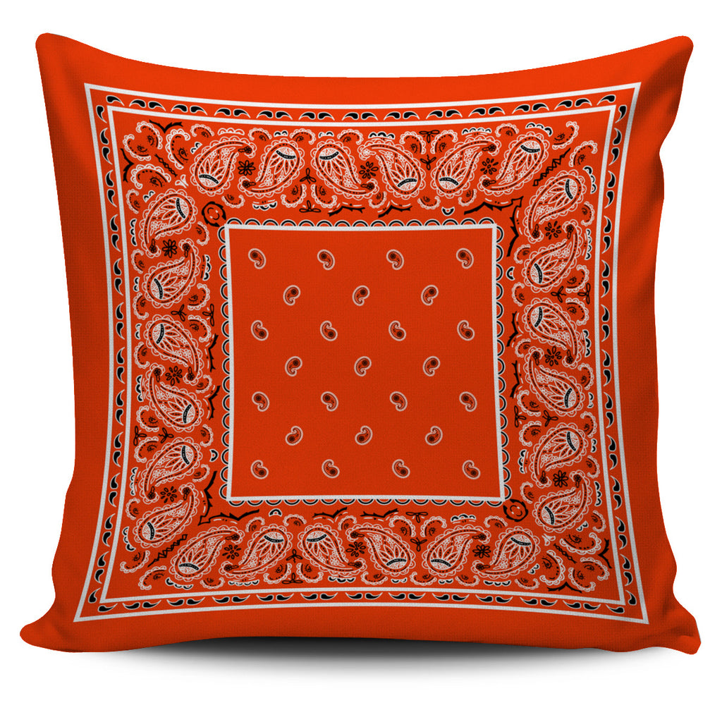 orange accent pillow